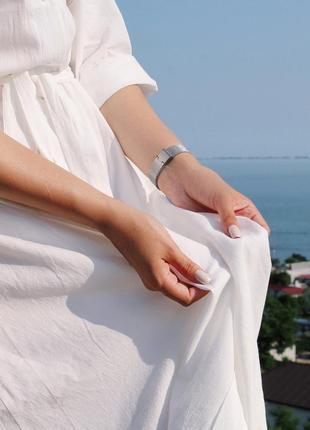 Объемное хлопковое платье миди молочного цвета / размер универсальный подойдет на s-l4 фото
