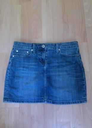 Юбка, фирменная джинсовая юбочка 38 р.