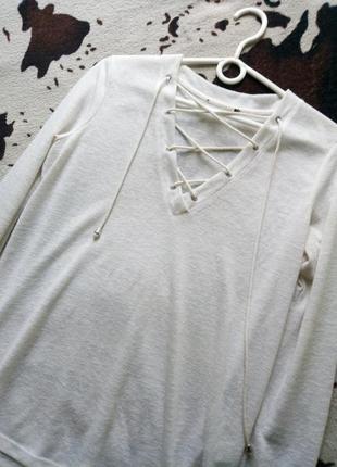 Кофта с завязками, блуза, свитшот