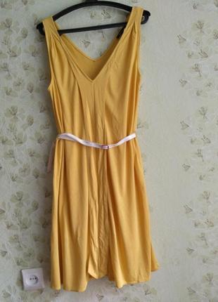 Летний желтый сарафан4 фото