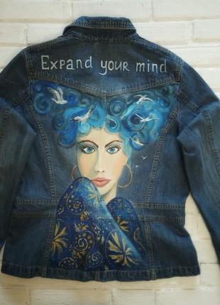 Джинсовая куртка с артросписью