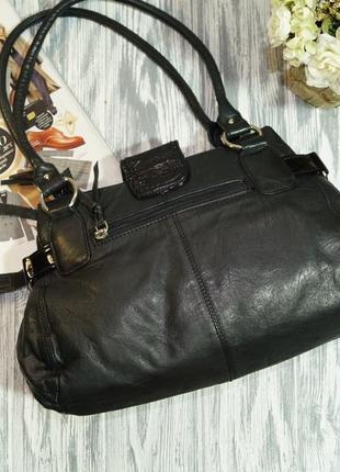 Clarks. кожа. качественная сумка на 3 отделения4 фото