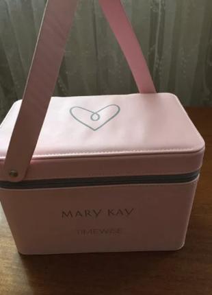 Эксклюзивный кейс для косметики от mary kay мери кей мэри кэй розовый кейс
