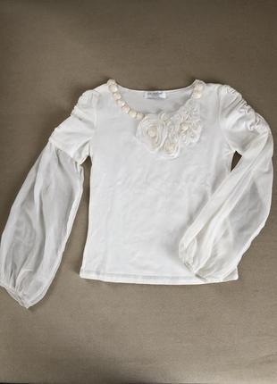 Кофта нарядная школьная блузка