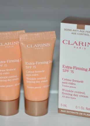 Дневной крем clarins extra-firming day cream de dia spf 15 мини