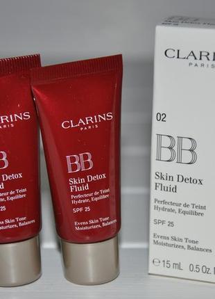 Clarins bb skin detox fluid spf 25 bb-флюид с эффектом детокса  тон 02 мини 15ml
