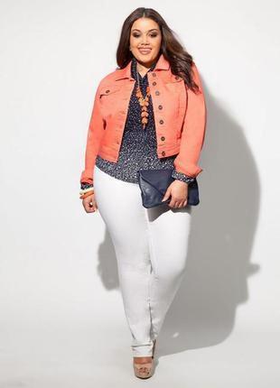 Ооочень классные белые классические джинсы брюки штаны большой размер 20 ххххл 54