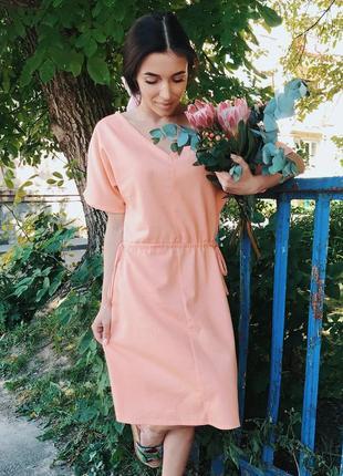 Платье лён