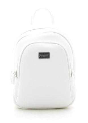 Новый белый женский городской рюкзак david jones