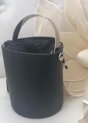 Кожаная сумка ведро италия
