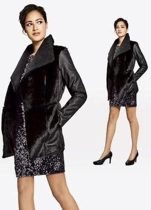 Классная меховая куртка-кардиган esmara, германия, размер 44 наш 50-52