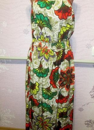 Next, платье макси-бандо с цветочным принтом.50-54 рр