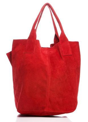 Замшевая красная сумка arianna италия цвета в ассортименте4 фото