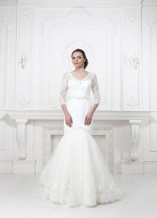 Свадебное платье весільна сукня кружево gino cerutti lenovia рыбка рибка айвори