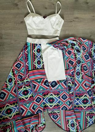 Костюм: топ и юбка