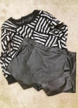 Крутые кожанные шорты- missguided -14 16р5 фото