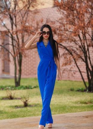 Деловой  и стильный комбинезон в цвете электрик (синий)