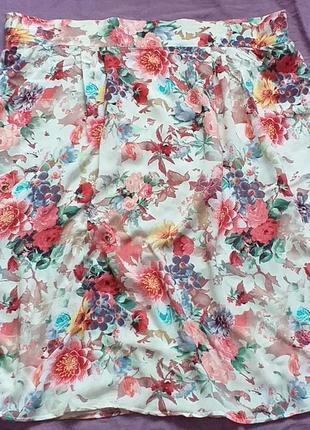 Цветочный принт юбка