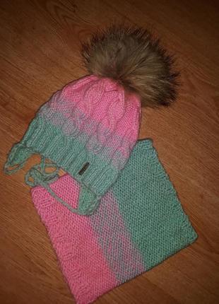 Зимний комплект handmade, 2-3 года