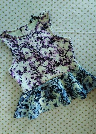 Классная блуза с баской. на бирке- 12-13 лет.