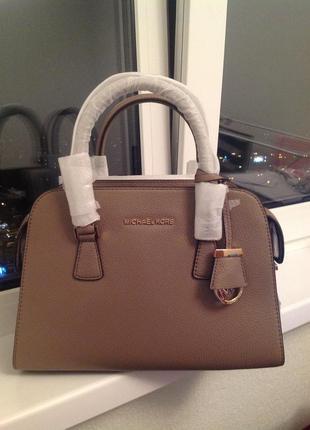 Harper medium leather satchel