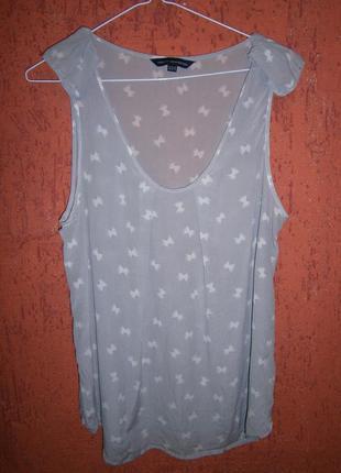 Блуза бантики шелк без рукавов
