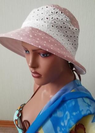 Пляжная шляпа пыльная роза