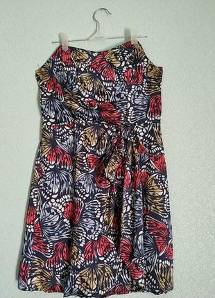 Sale  летнее, шелковое нарядное платье на запах, с верхом типа корсет