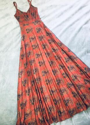 Пурпурное платье от asos в винтажном стиле с плиссированной юбкой