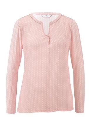 Легкая тонкая трикотажная блуза с длинным рукавом 60-62 размер