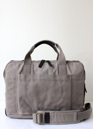 Мужская сумка мессенджер  ecco с элементами кожи