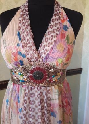 Невероятно красивое шифоновое платье в цветочный принт аzaka.