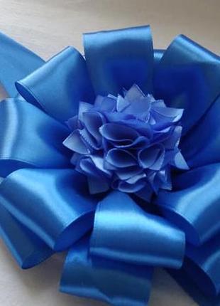 Бант на выписку синий