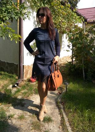 Супермодное платье с бахромой