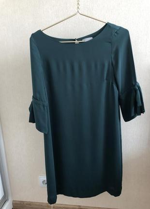Изумрудное платье h&m