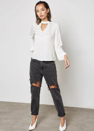 Рубашка блуза топ с круглым вырезом vero moda!