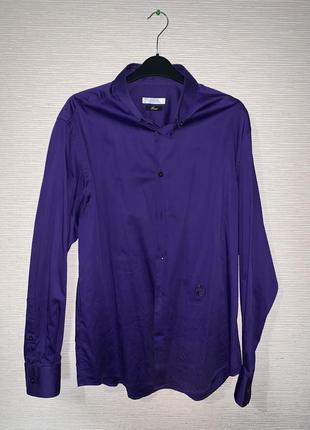 Фиолетовая рубашка versace
