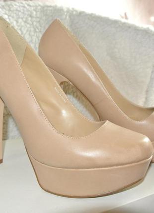 Туфли кожаные nude