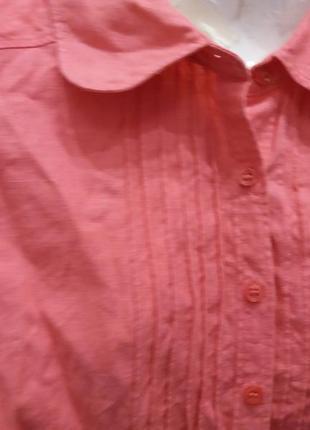 Яркая  рубашка       лен5 фото