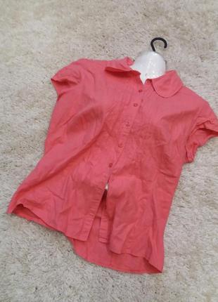 Яркая  рубашка       лен6 фото