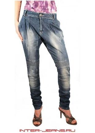 Летние джинсы-галифе red blue размер m(8)