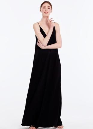 Свободное макси платье сарафан  тонких бретелях завязках forever 21