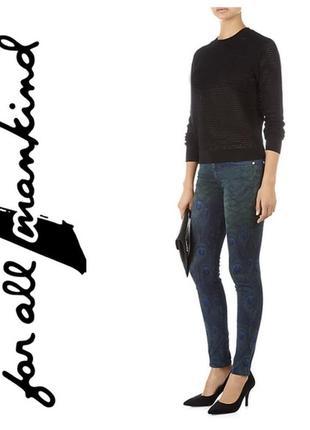 7 for all mankind джинсы скинни принт зигзаг xs