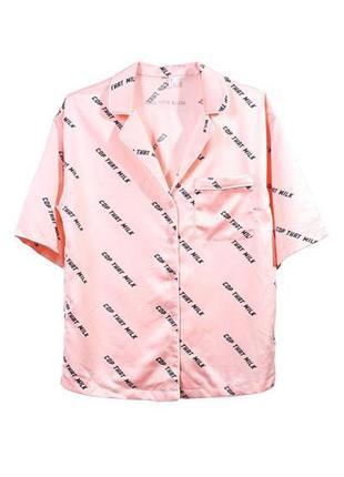 Оригинальная пижамная рубашка от бренда h&m разм. 32
