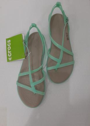 Оригинал crocs! сандалии/босоножки isabella gladiator крокс