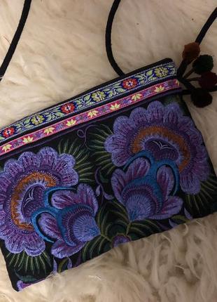 Бохо сумочка с вышивкой