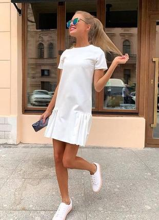 Новое хлопковое белое платье сарафан