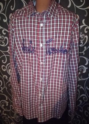Рубашка в клетку клетчатая рубашка 100%хлопок
