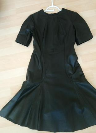 Стиляжное кожаное платье gizia,первая линия,очень крутое!