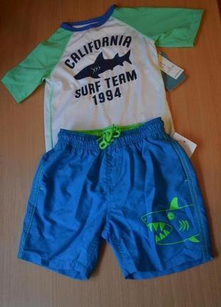 Пляжный костюм с уф-фильтром на 2-3 года